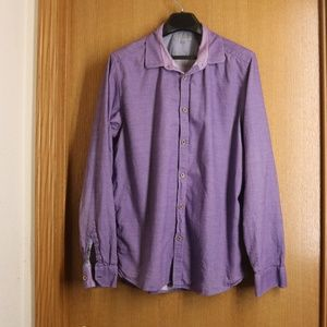Ted Baker London Purple Flancan Button Down Sz 5